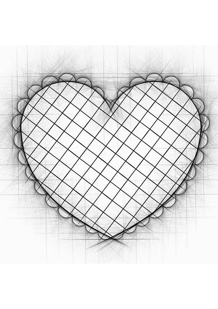 coração quadriculado tumblr