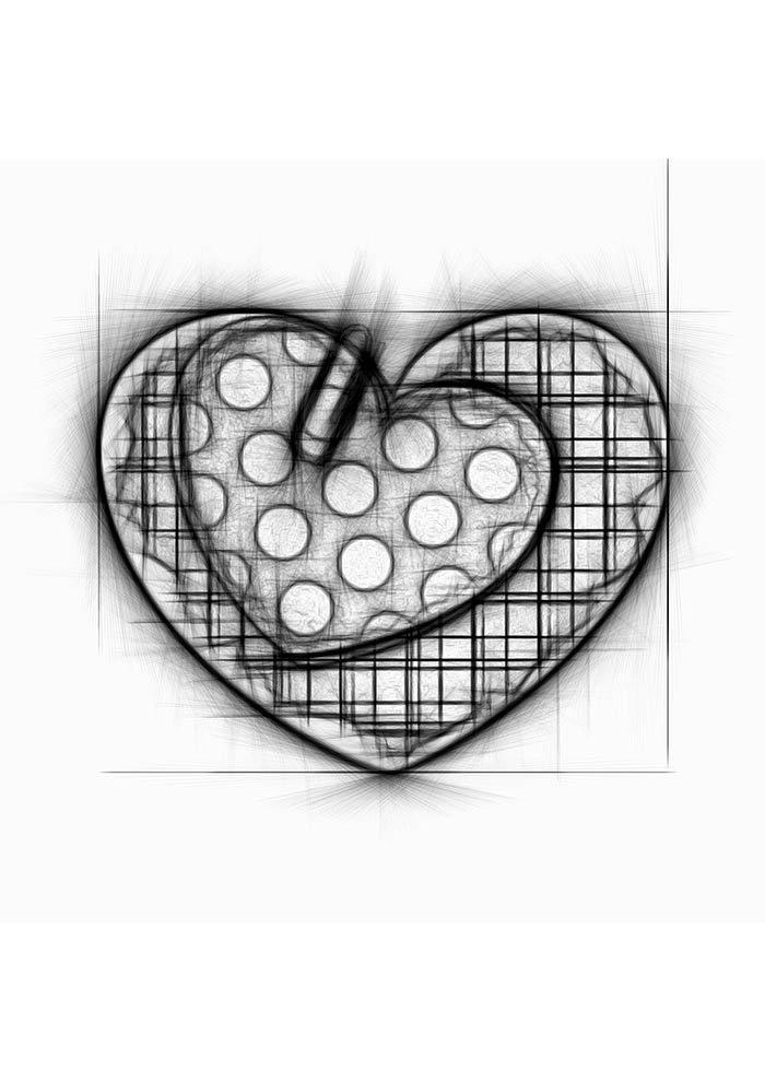 coração tumblr para imprimir e colorir