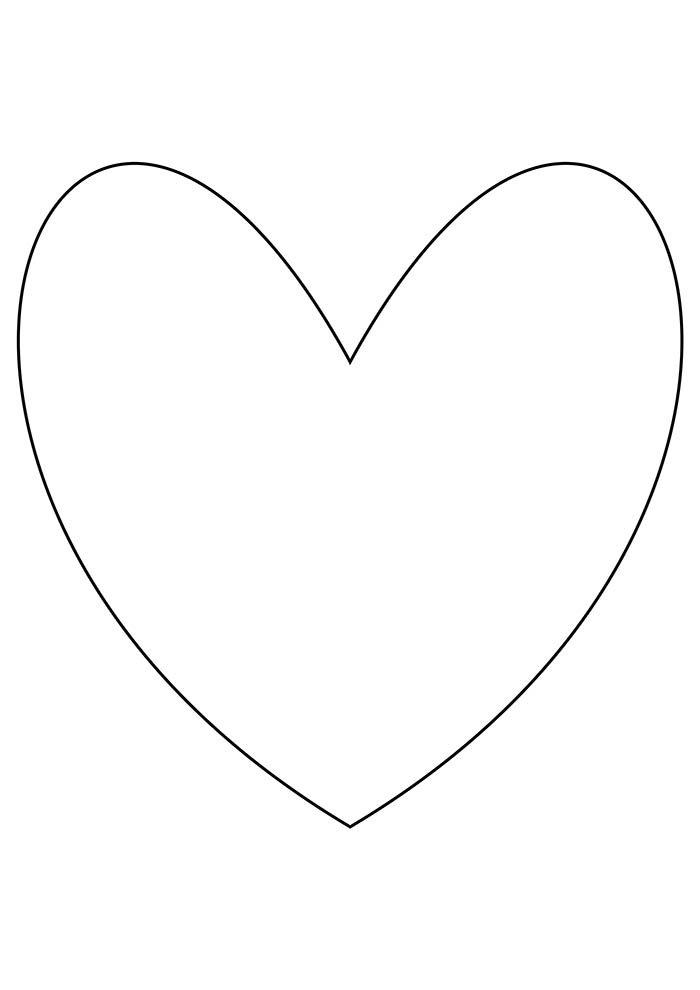 coração vazado para colorir