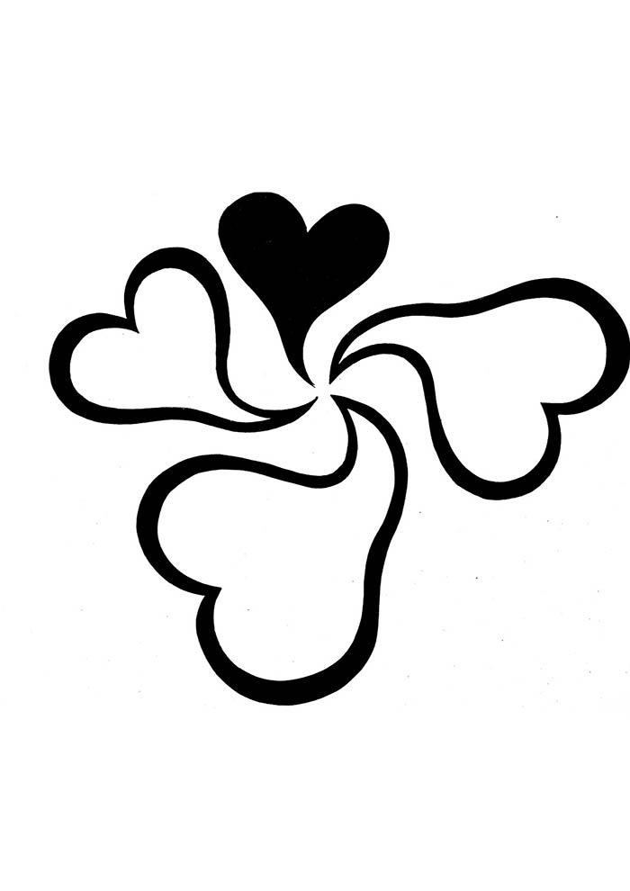 corações pequenos para colorir e imprimir