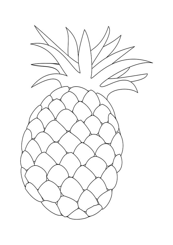 desenho abacaxi para colorir