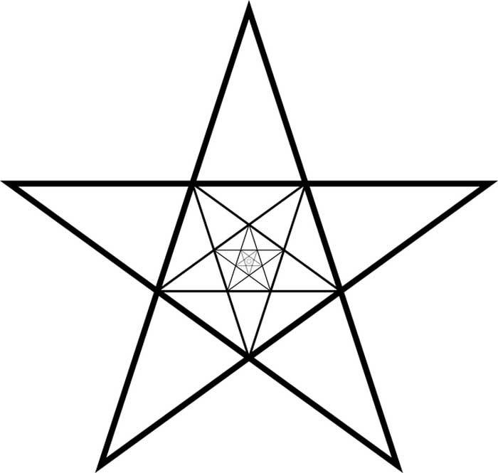 Desenho de estrela para imprimir e colorir