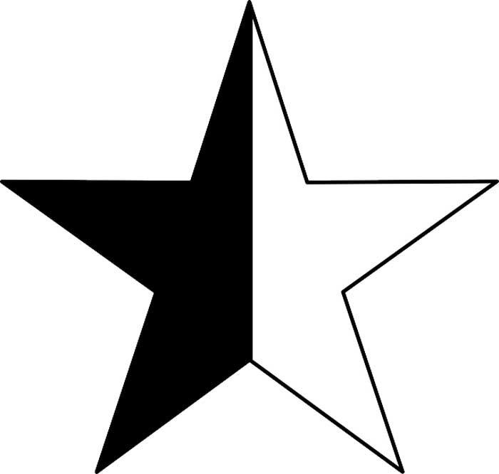 Desenho de estrela para imprimir