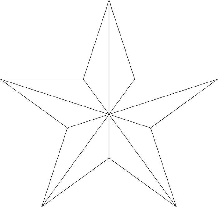 Desenho de estrela