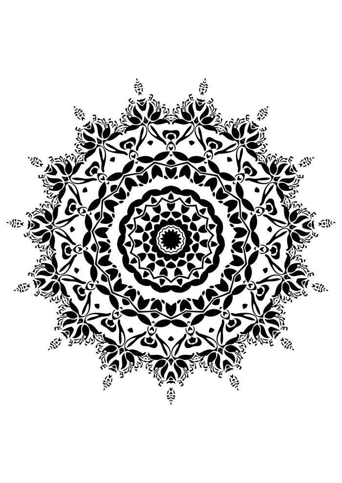 desenho de mandala indiana