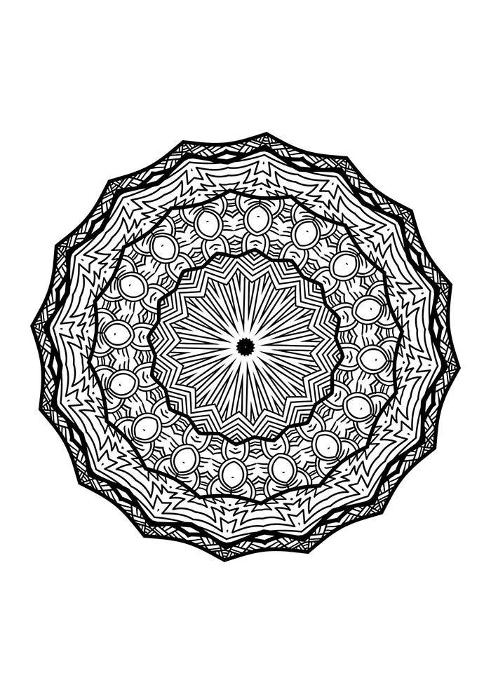 desenho de mandala para imprimir