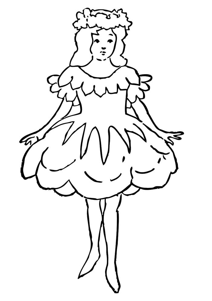 desenho de menina para colorir