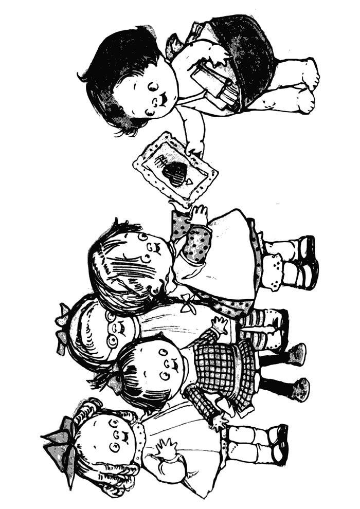 desenho de meninas para colorir