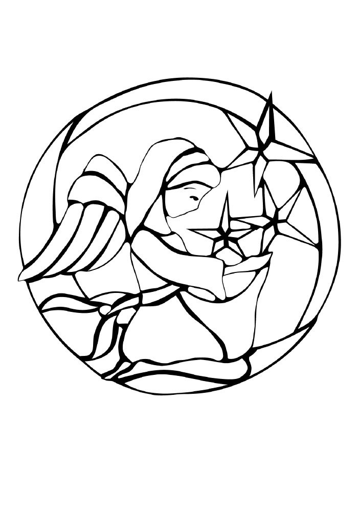 desenho de natal para colorir anja e estrelas