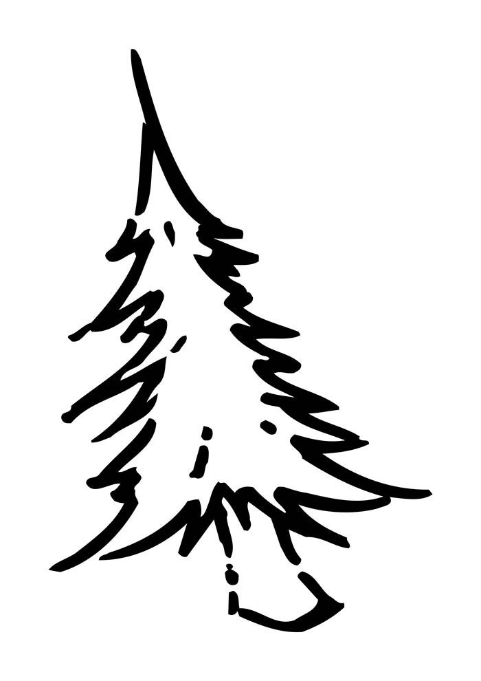 desenho de natal para colorir árvore de natal branca