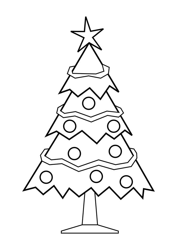 desenho de natal para colorir árvore de natal estrela na ponta