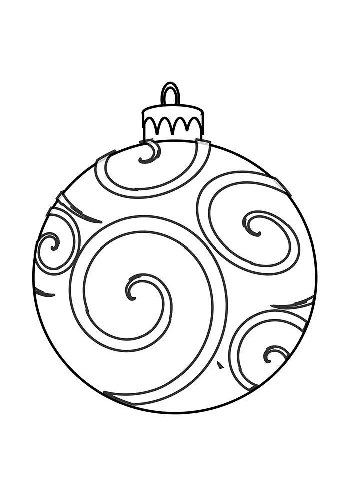 desenho de natal para colorir bola decorada