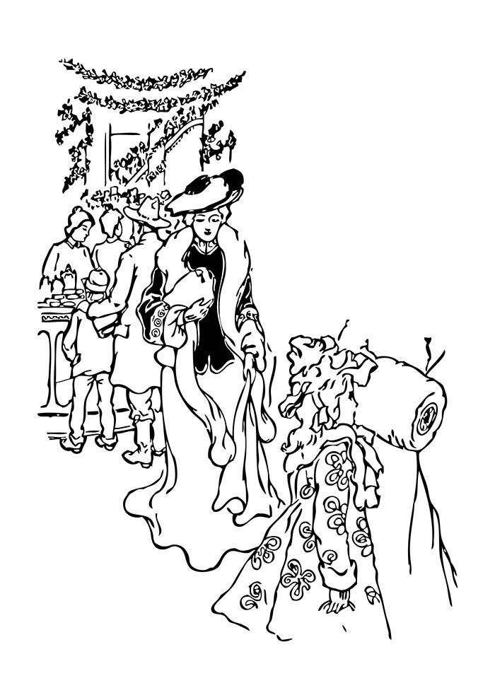 desenho de natal para colorir ceia de natal