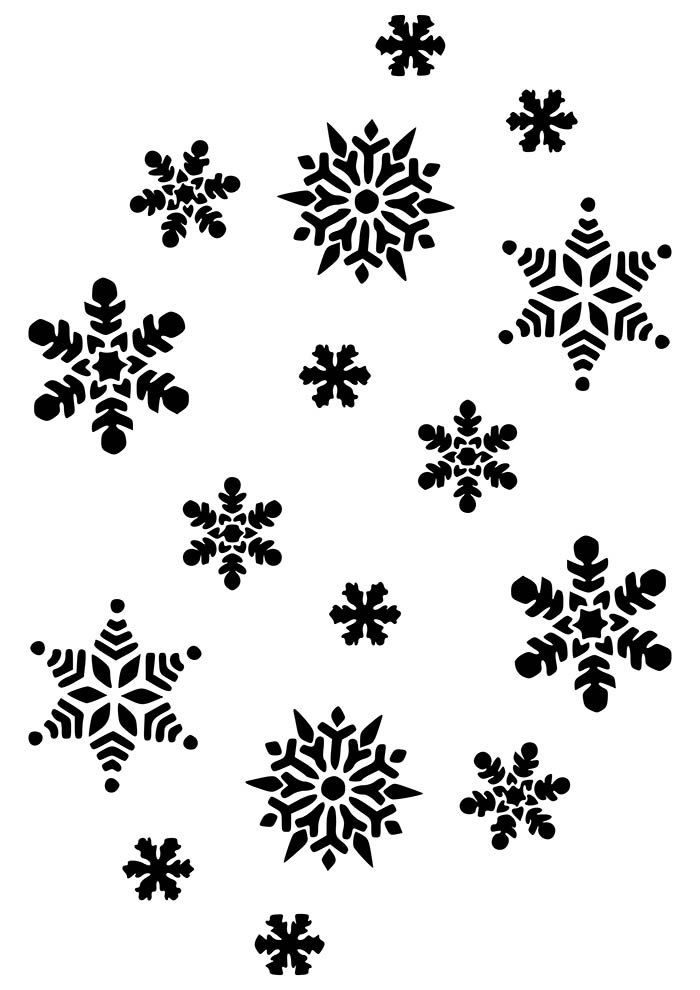 desenho de natal para colorir flocos de neve