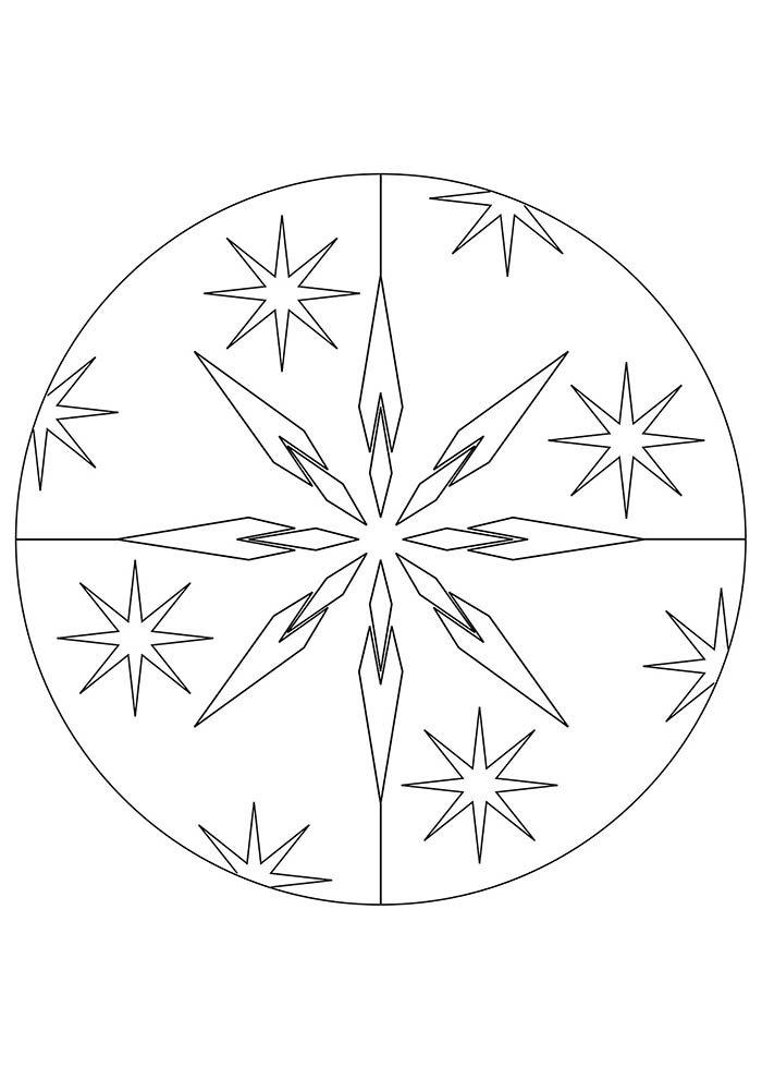 desenho de natal para colorir mandala