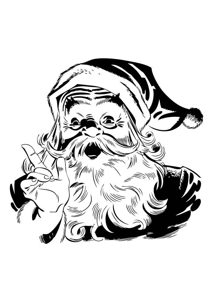 desenho de natal para colorir papai noel rosto