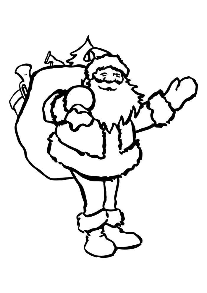 desenho de natal para colorir papai noel