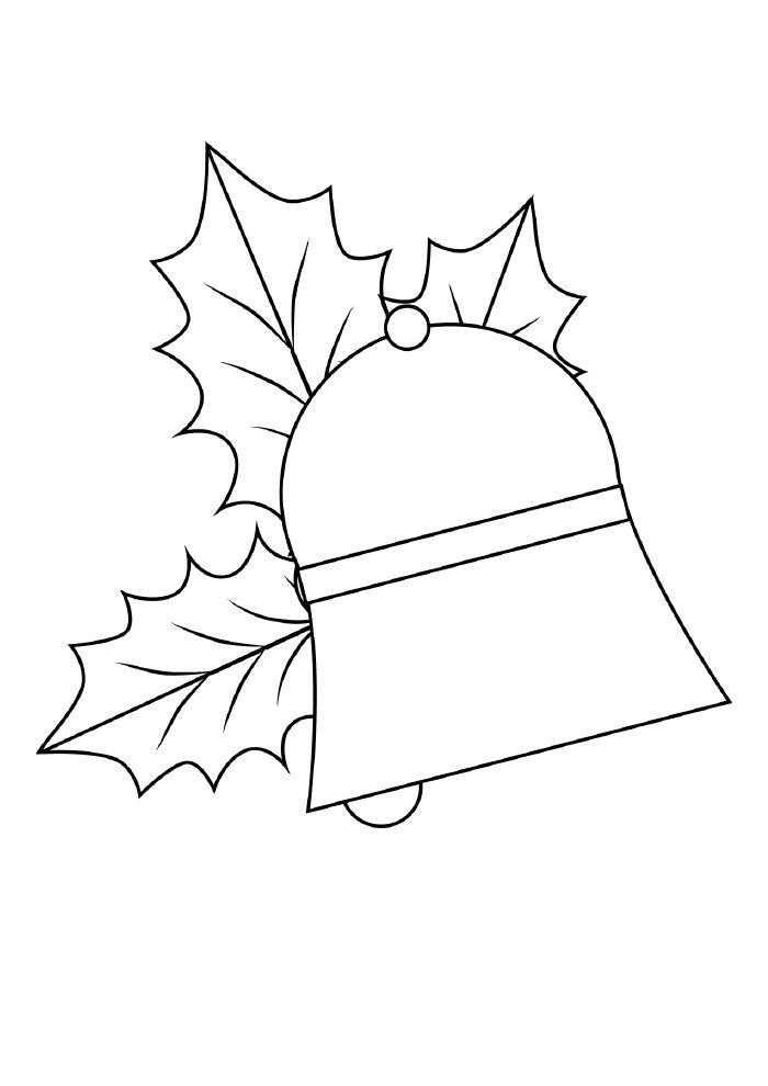 desenho de natal para colorir sino enfeitado