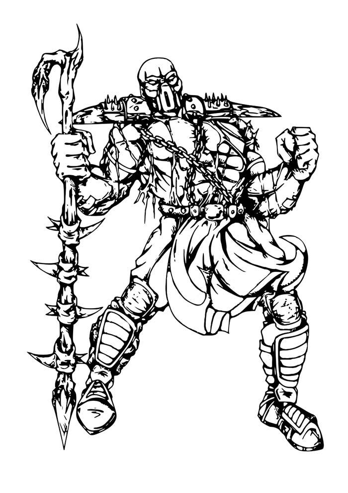 Desenho do Mortal Kombat para colorir