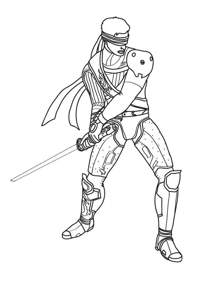 Desenho do Mortal Kombat para imprimir