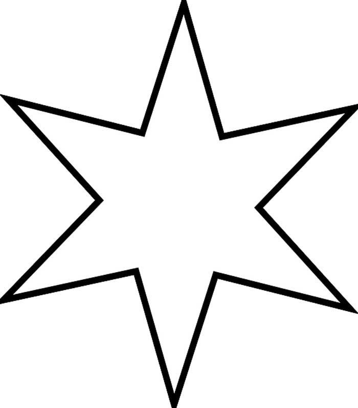 Desenho estrela 6 pontas para colorir