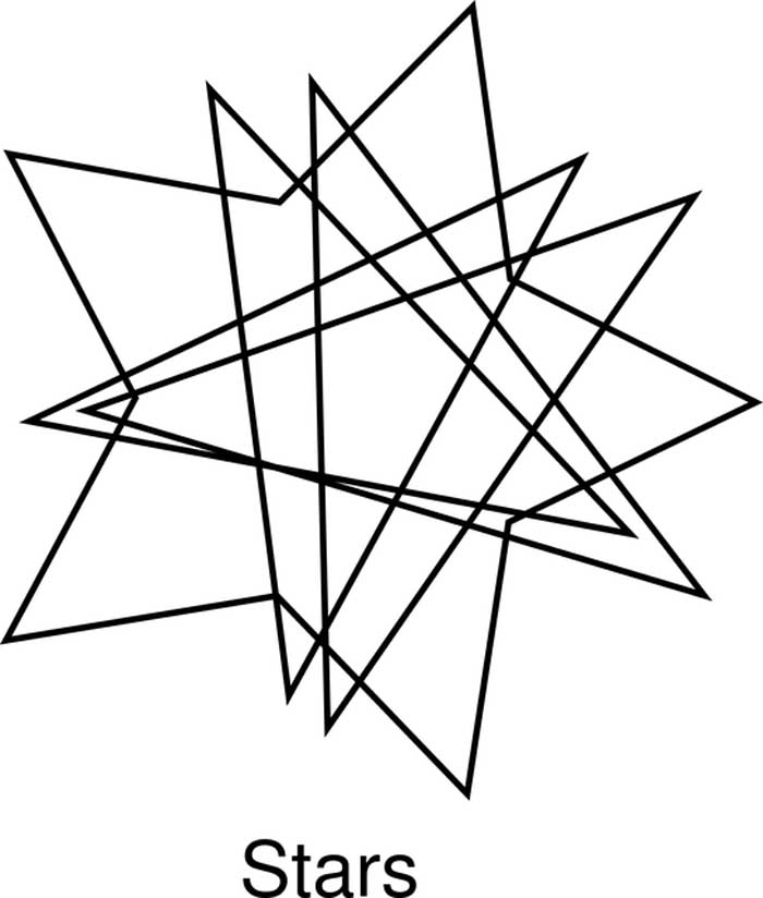 Desenho estrela geométrica para colorir