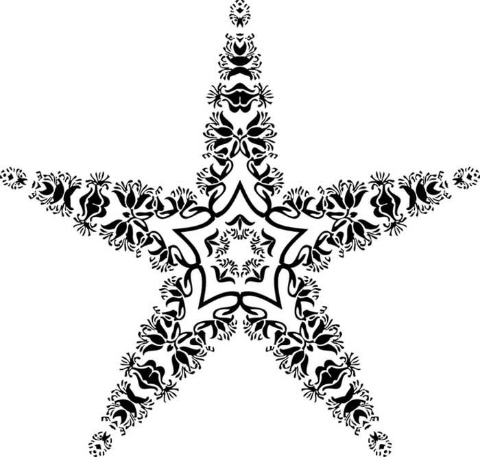 Desenho estrela para imprimir