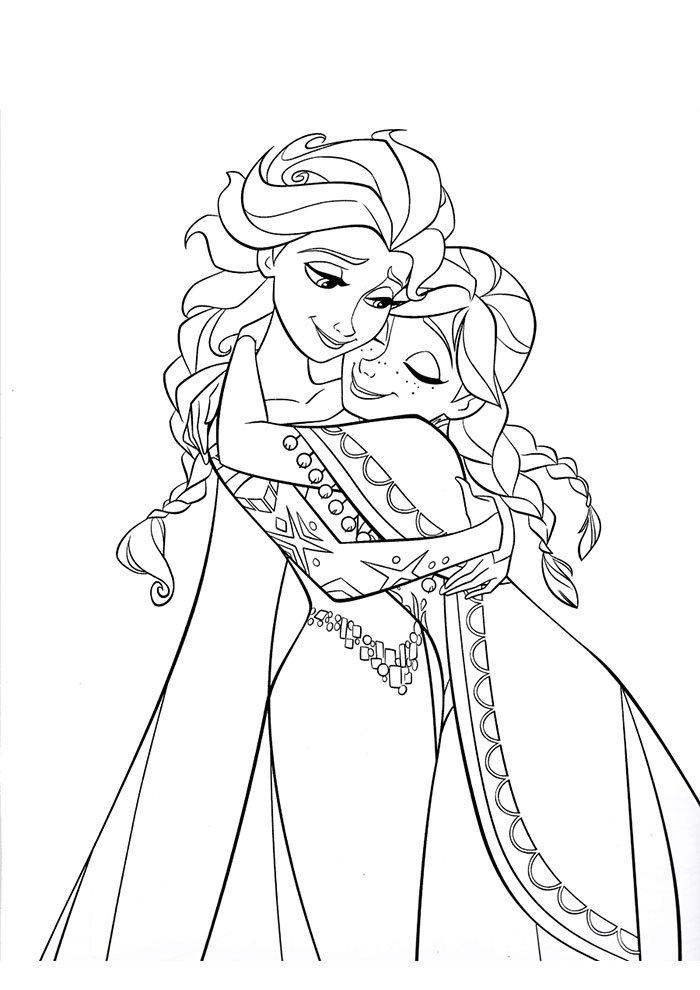 Desenho Frozen para colorir