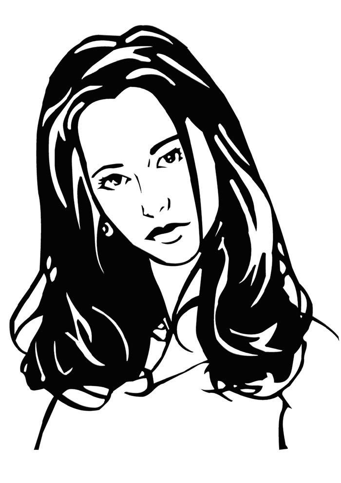 desenho garota