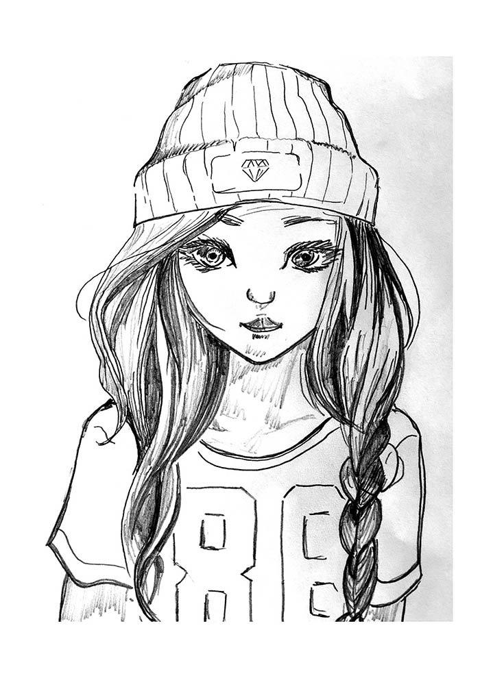 desenho jogadora tumblr