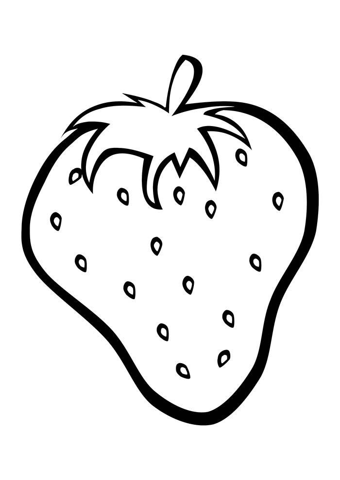 desenho morango para colorir