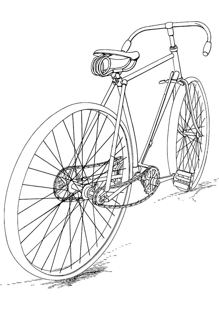 desenho para colorir bicicleta