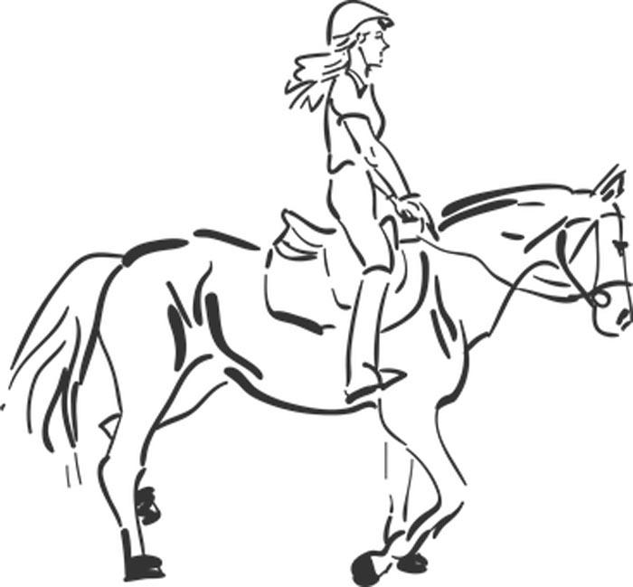 Desenho para colorir cavalo grande