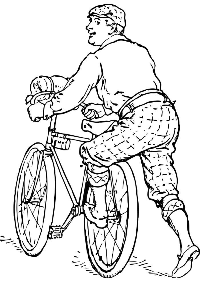 desenho para colorir de bicicleta