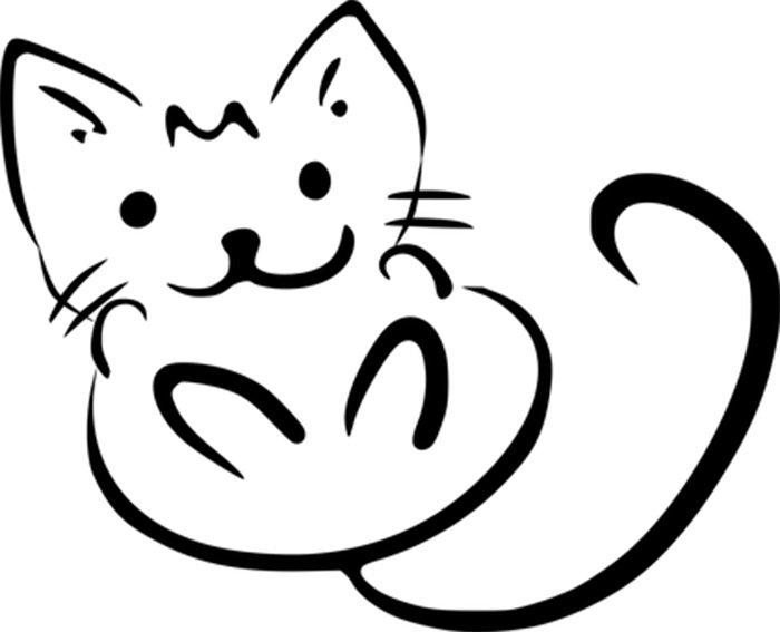 Desenho para colorir de gato