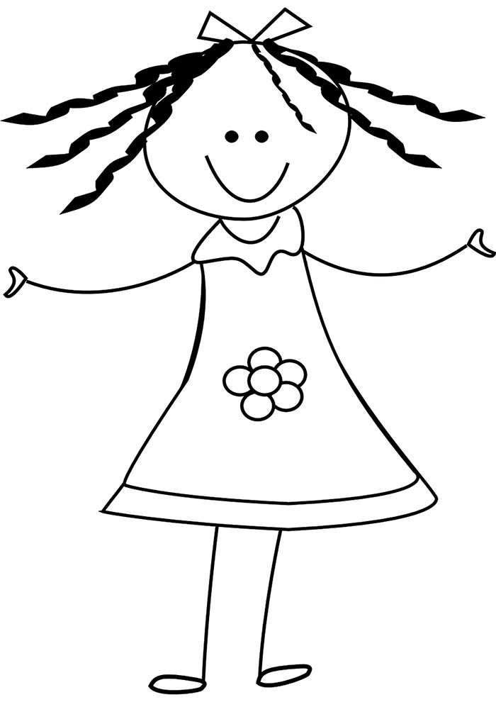 desenho para colorir de menina