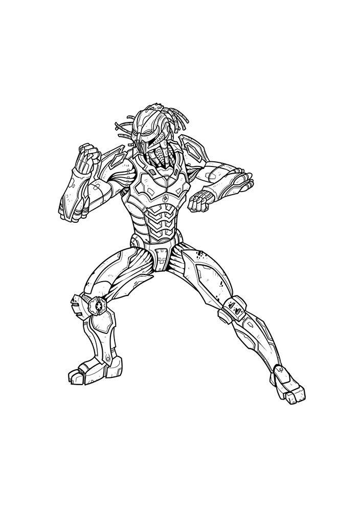 Desenho para colorir do Mortal Kombat