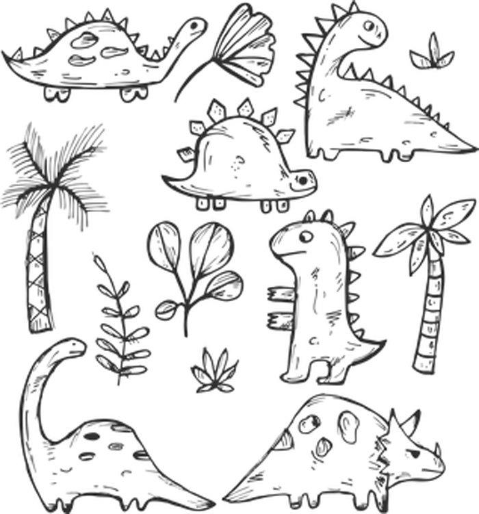 Desenhos de dinossauros para colorir