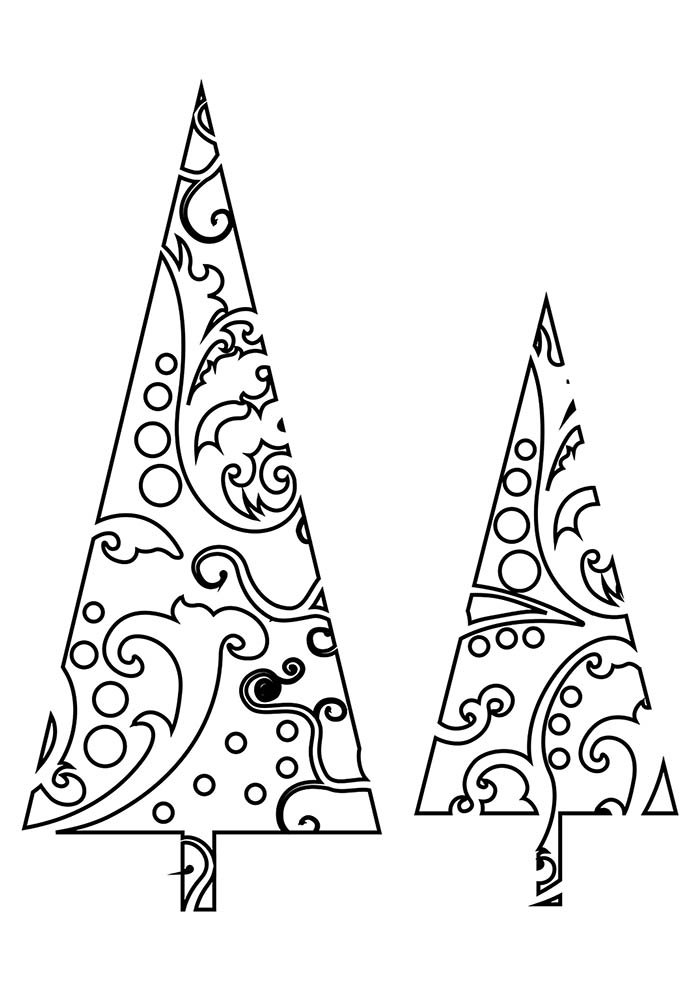 desenhos de natal para colorir árvores de natal
