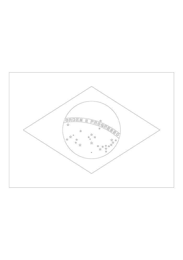 desenhos para colorir bandeira do brasil