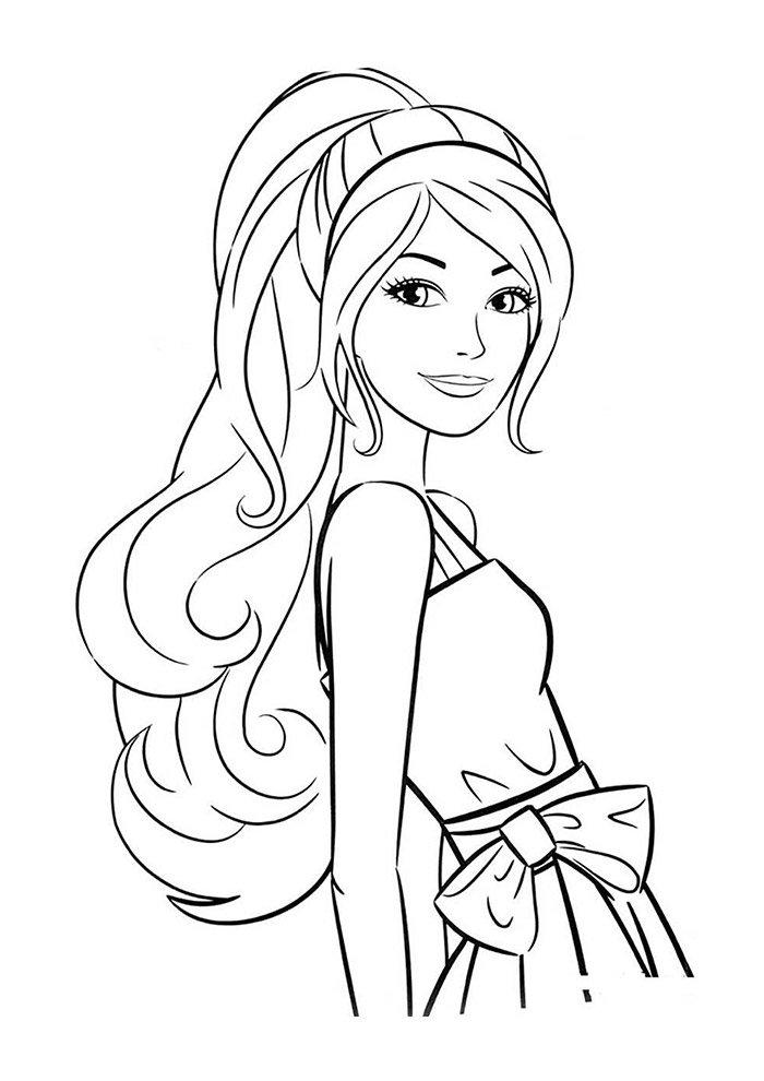 27 Desenhos Da Barbie Para Imprimir E Colorir