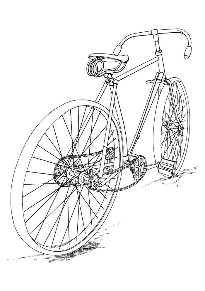 desenhos para colorir bicicletas