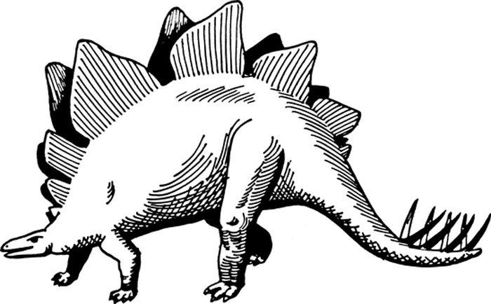 Dinossauro grande para colorir
