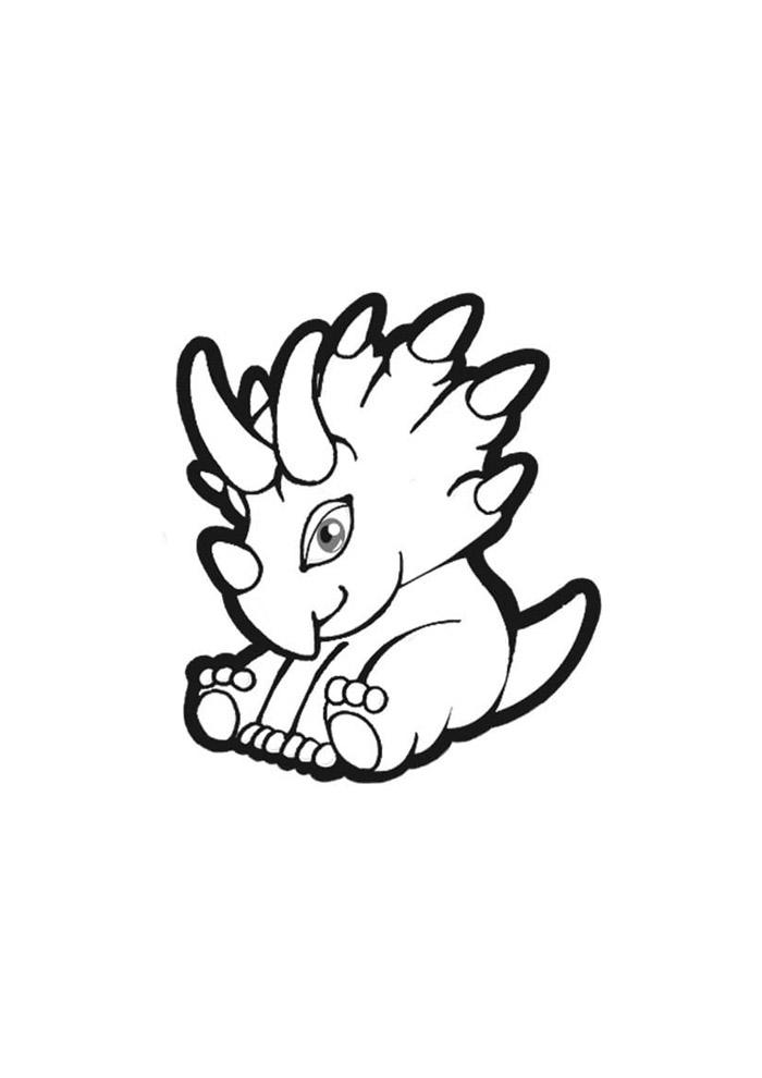 dinossauro para colorir 1