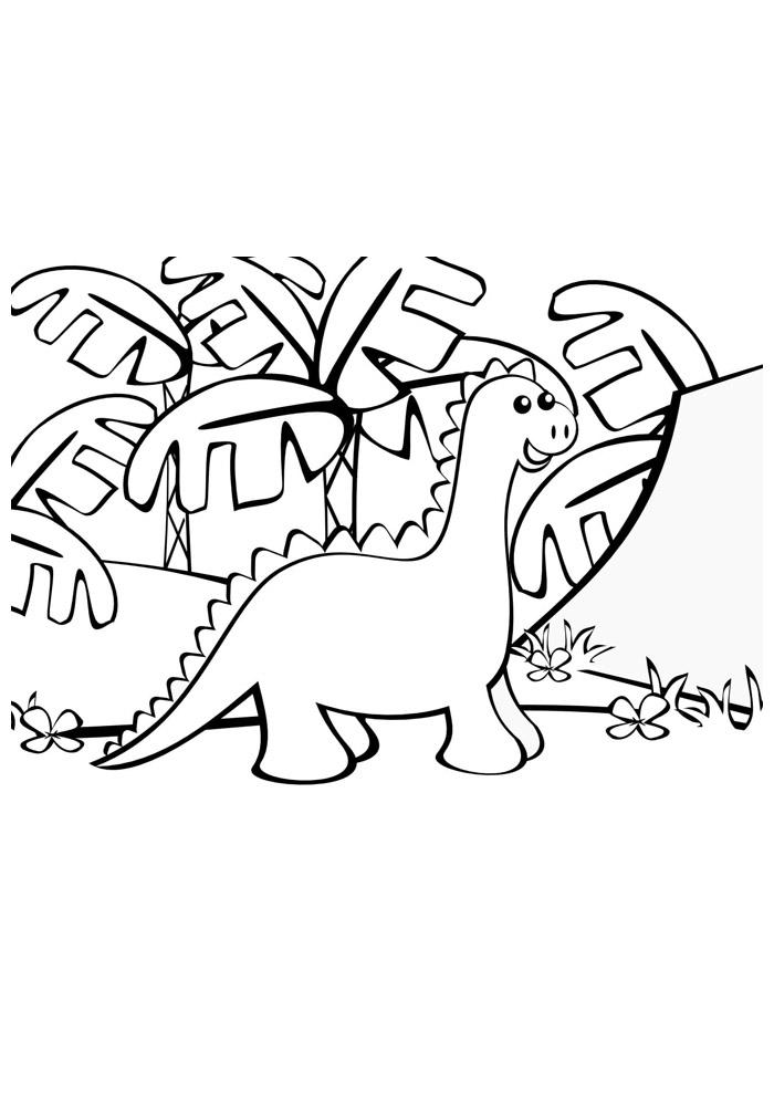 dinossauro para colorir 17