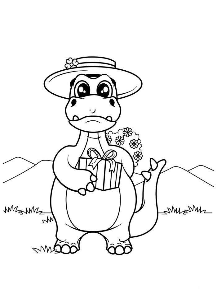 dinossauro para colorir 20