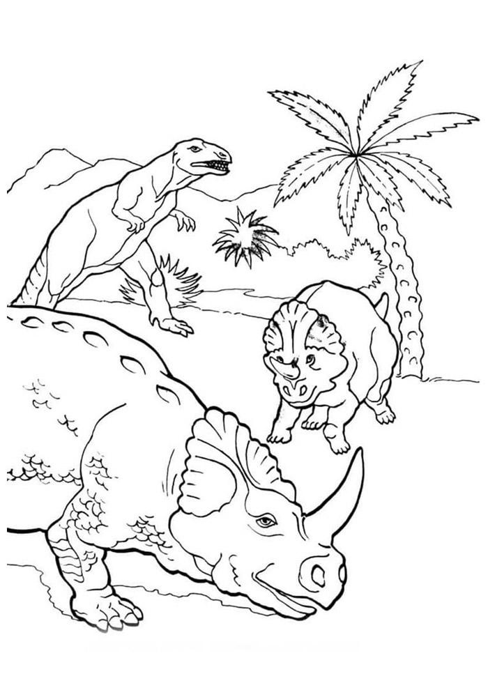 dinossauro para colorir 23