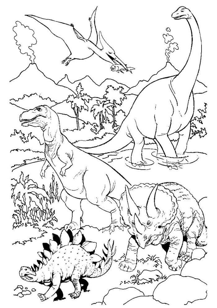 dinossauro para colorir 38