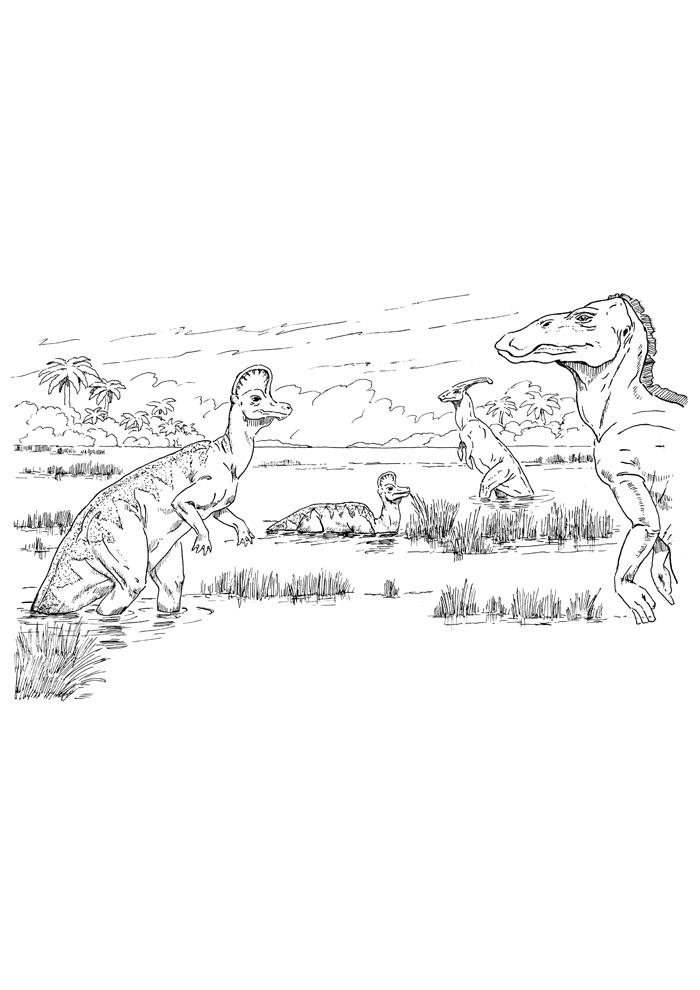 dinossauro para colorir 42