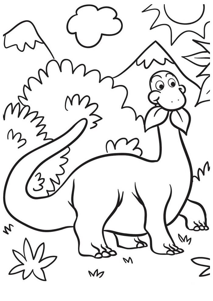 dinossauro para colorir 43
